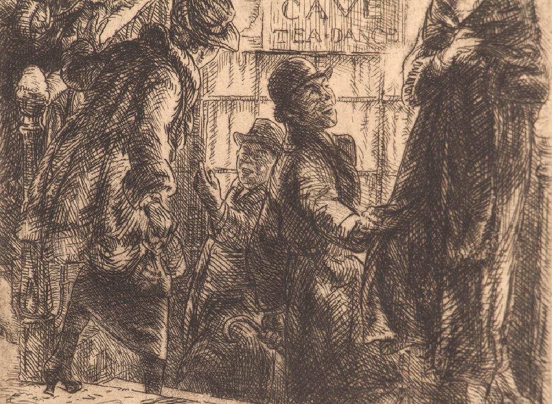 John Sloan 1920 etching Bandit's Cave - 6