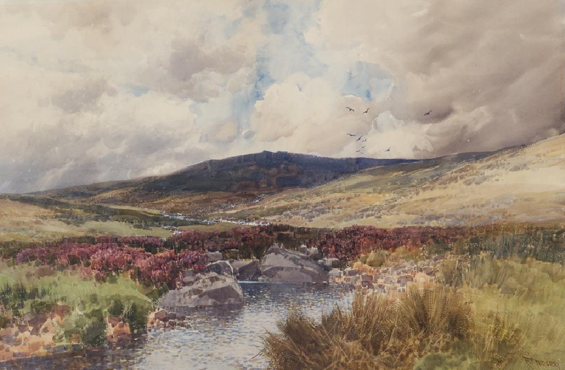 Frederick John Widgery watercolor Moorland Landscape
