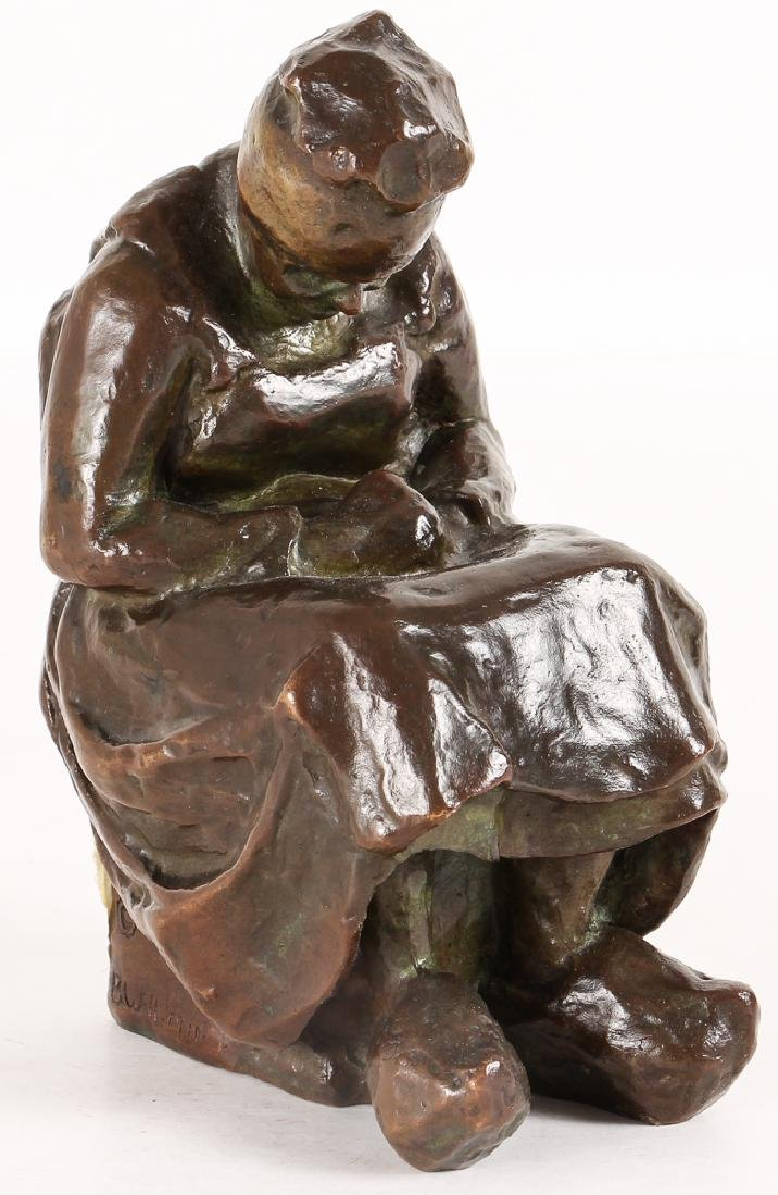 Blanca Will bronze Seated Woman with Her Arm's Folded