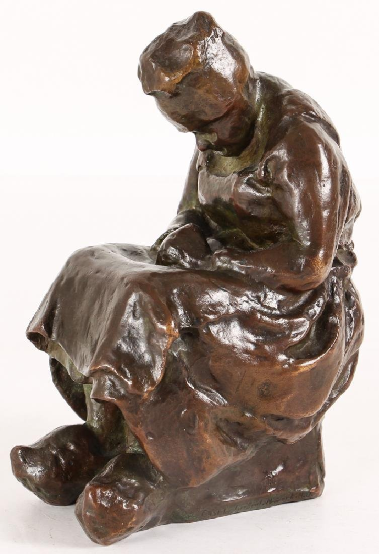 Blanca Will bronze Seated Woman with Her Arm's Folded - 2