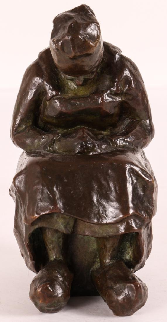 Blanca Will bronze Seated Woman with Her Arm's Folded - 3