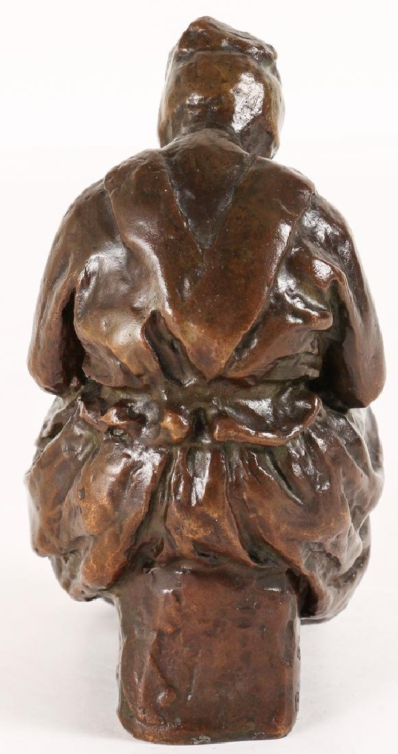 Blanca Will bronze Seated Woman with Her Arm's Folded - 4