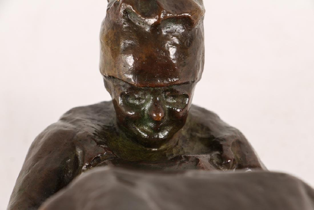 Blanca Will bronze Seated Woman with Her Arm's Folded - 7