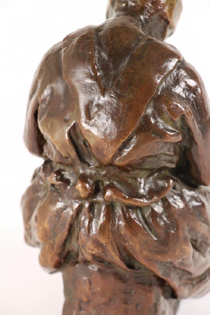 Blanca Will bronze Seated Woman with Her Arm's Folded - 9