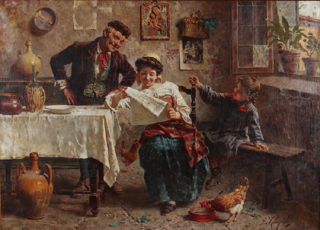 Eugenio Zampighi The Gossip Italian Genre Scene