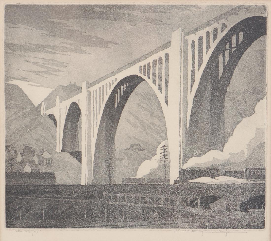 Ernest Boyer George Westinghouse Bridge Etching