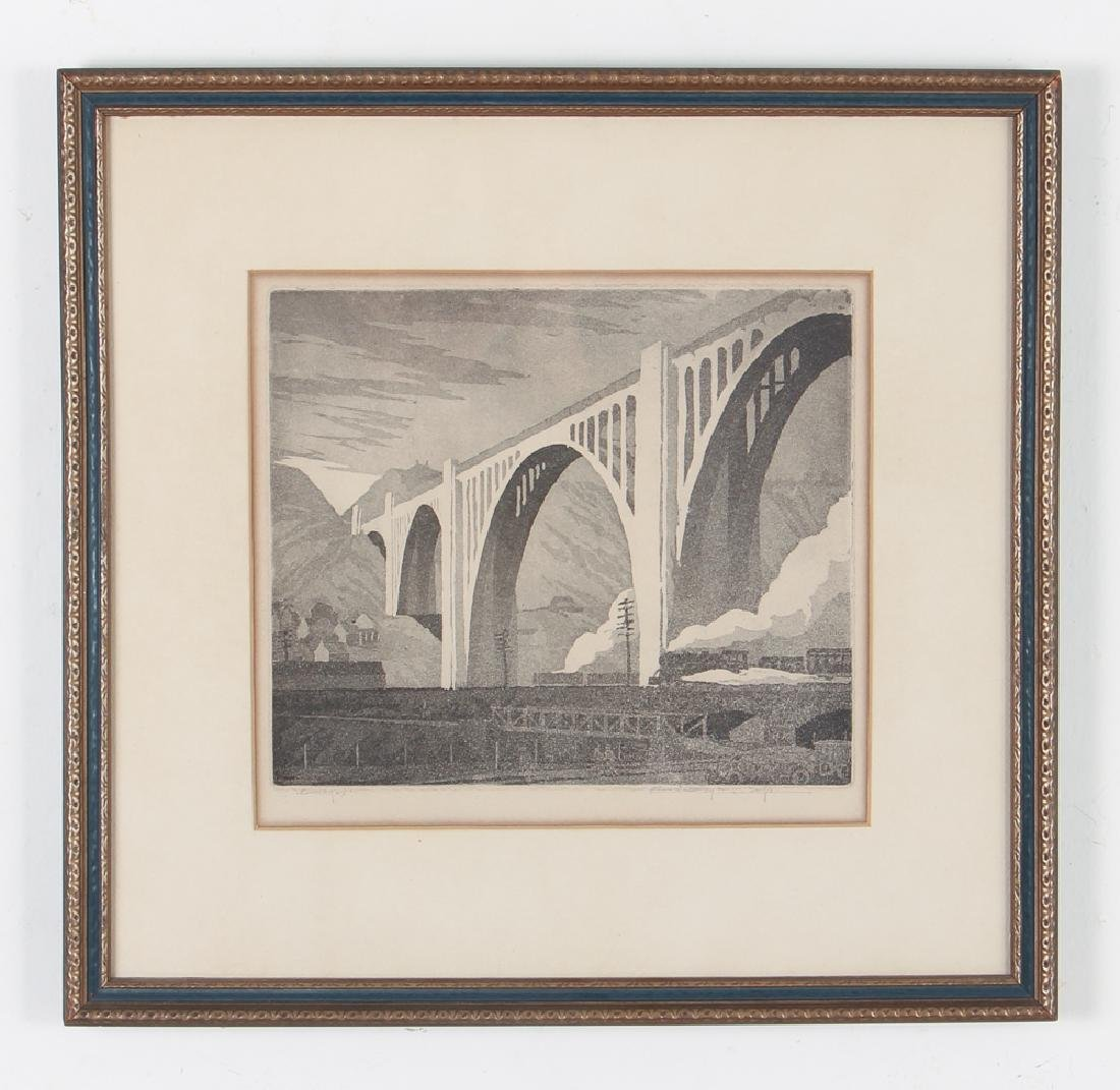 Ernest Boyer George Westinghouse Bridge Etching - 2