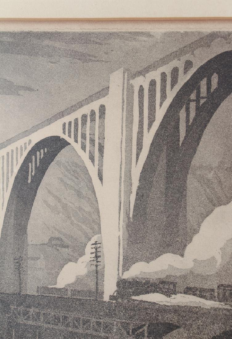 Ernest Boyer George Westinghouse Bridge Etching - 5