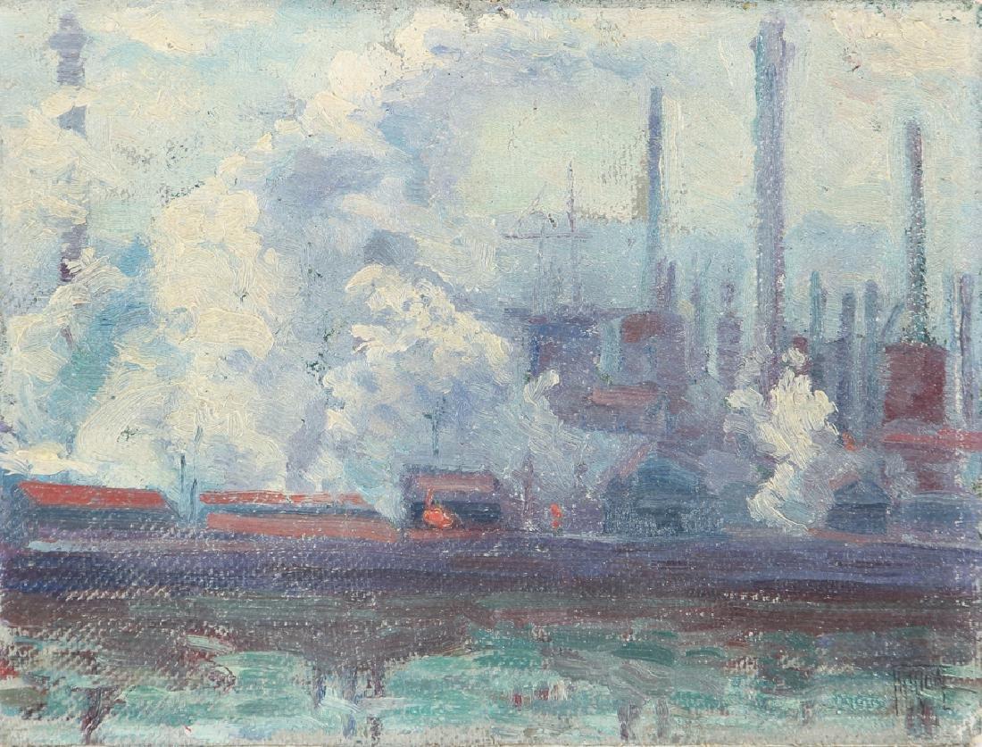 Isadore Firestone Industrial Scene Painting