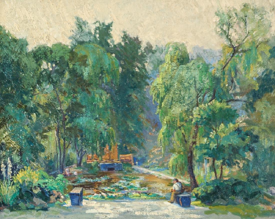 WILLIAM METZKES painting Westinghouse Memorial in