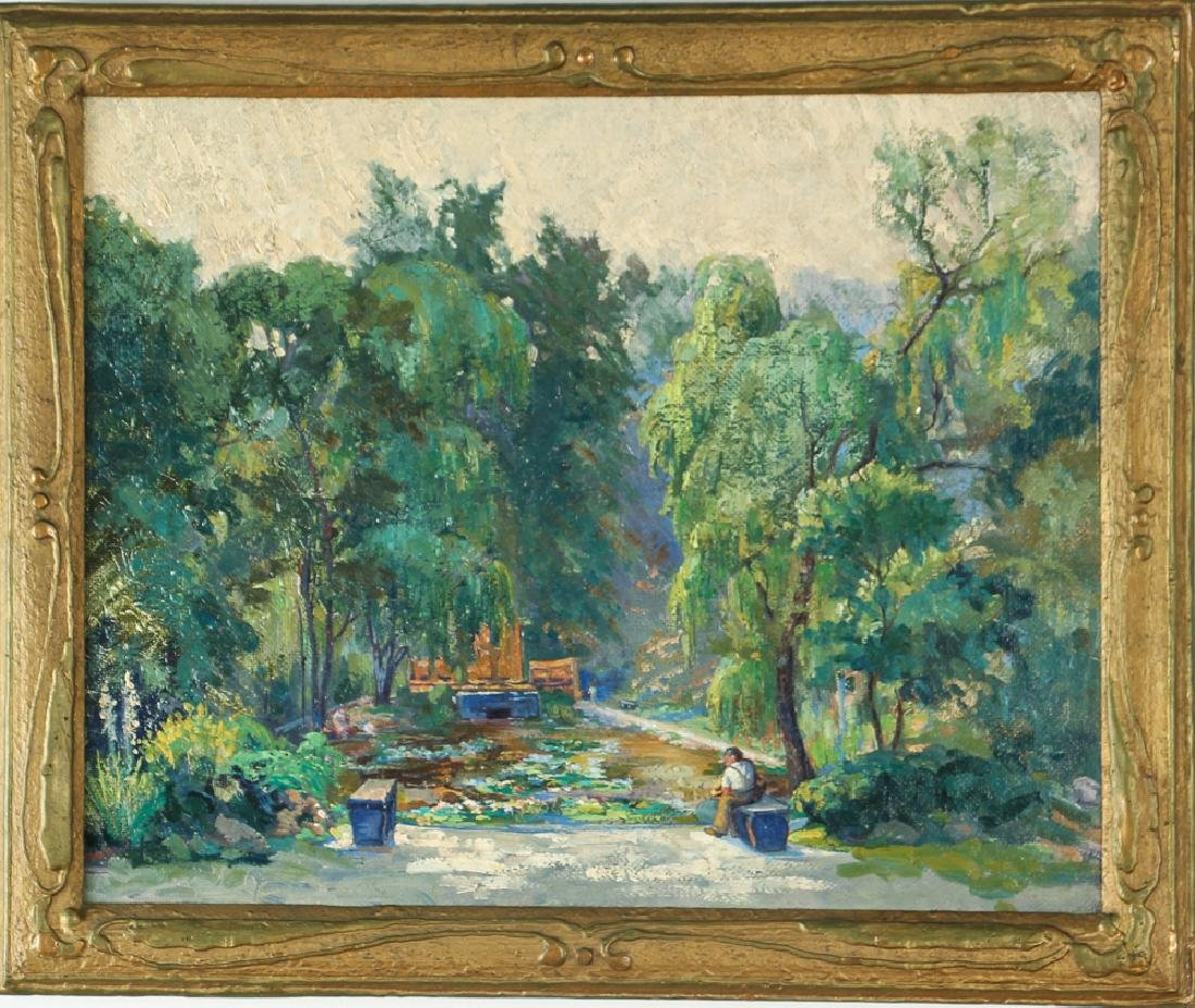 WILLIAM METZKES painting Westinghouse Memorial in - 2
