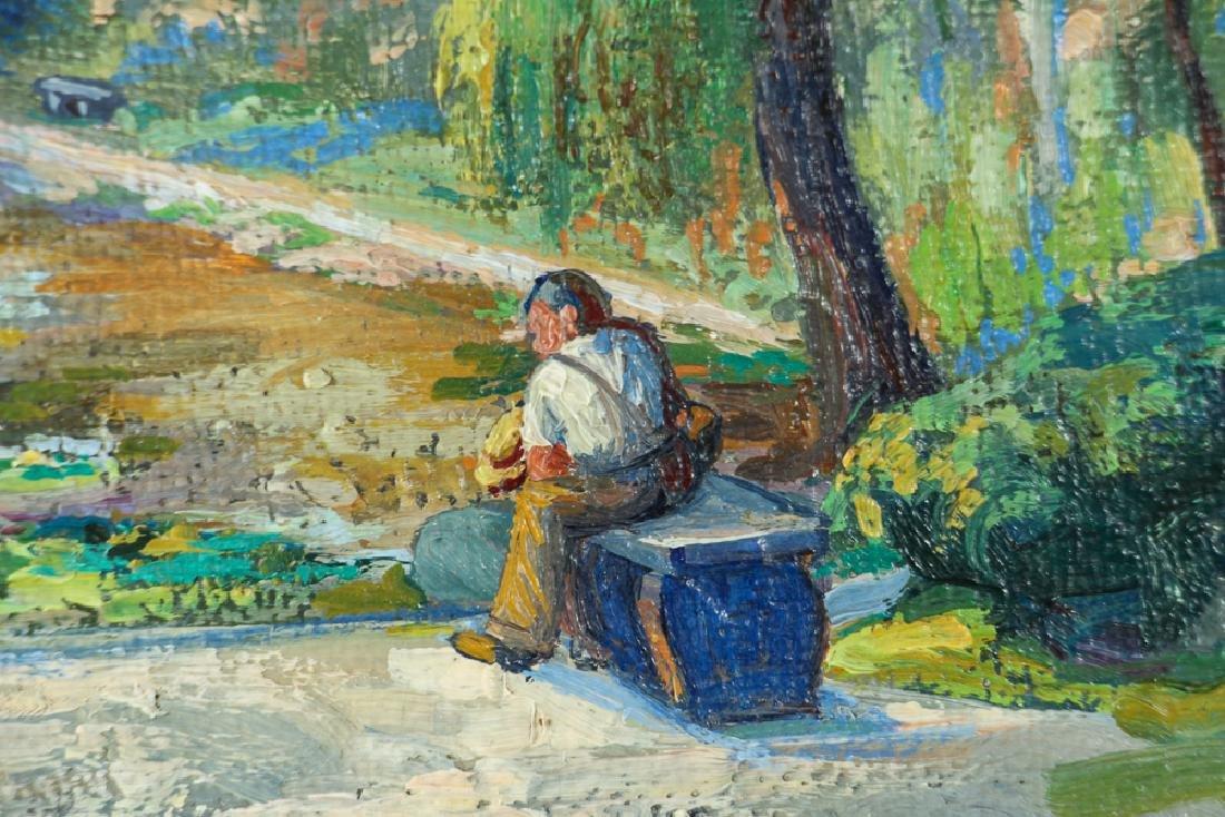 WILLIAM METZKES painting Westinghouse Memorial in - 3