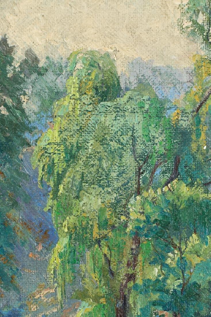 WILLIAM METZKES painting Westinghouse Memorial in - 5