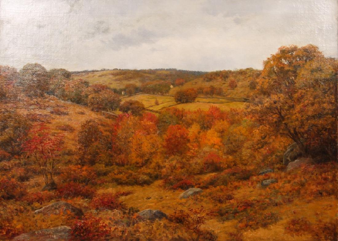 E A Poole Western PA Fall Landscape Painting