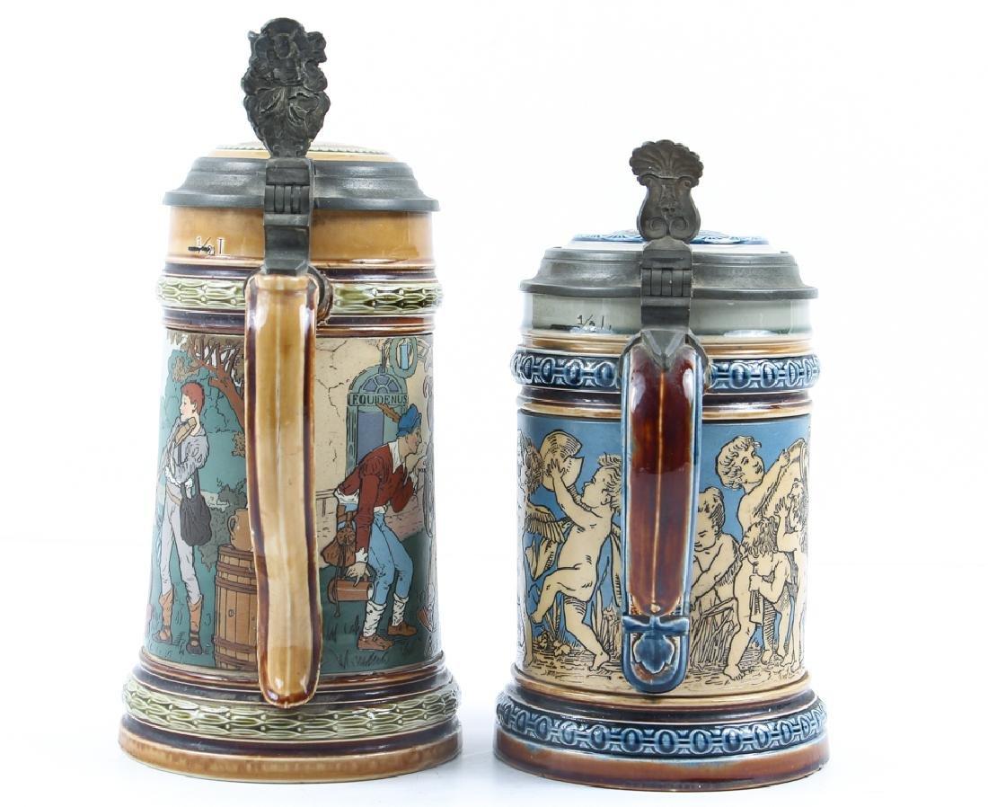 Two Antique  Mettlach Steins - 4