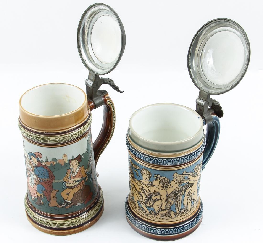 Two Antique  Mettlach Steins - 6