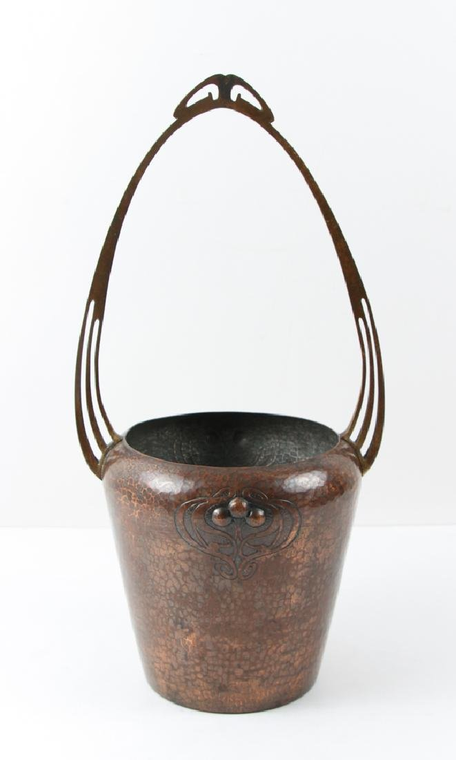 WMF copper Arts and Crafts Vase with Handle