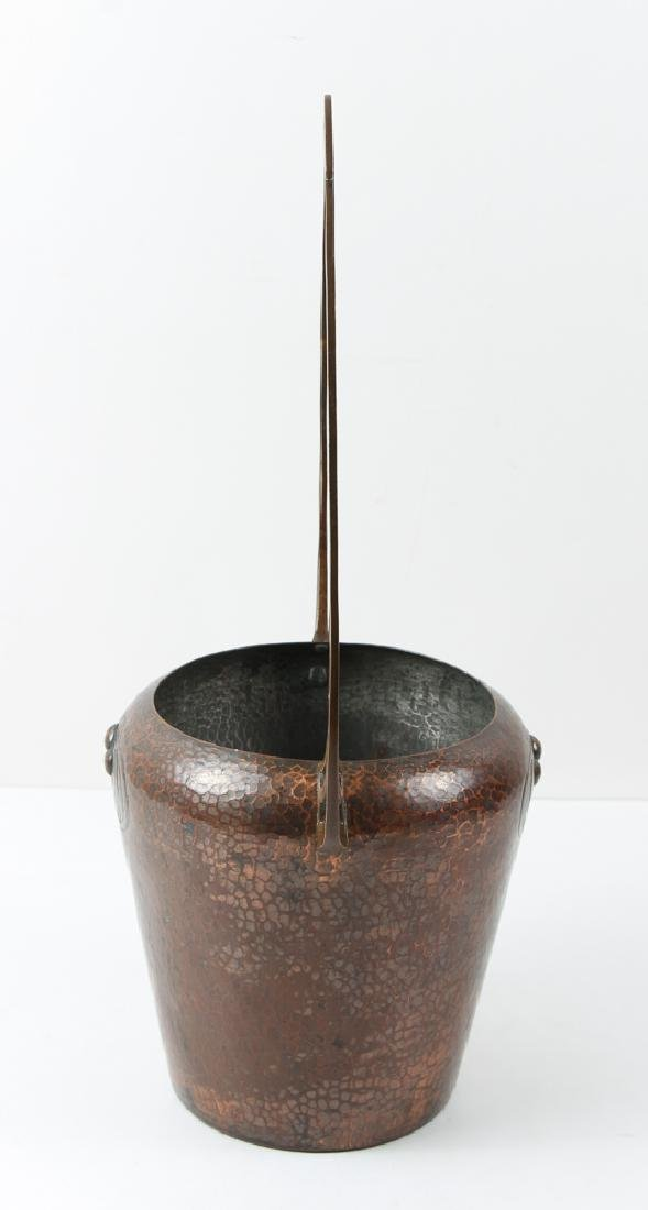 WMF copper Arts and Crafts Vase with Handle - 2