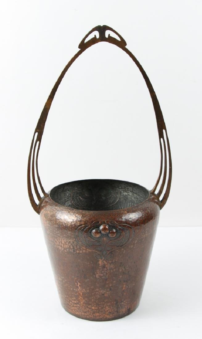 WMF copper Arts and Crafts Vase with Handle - 3