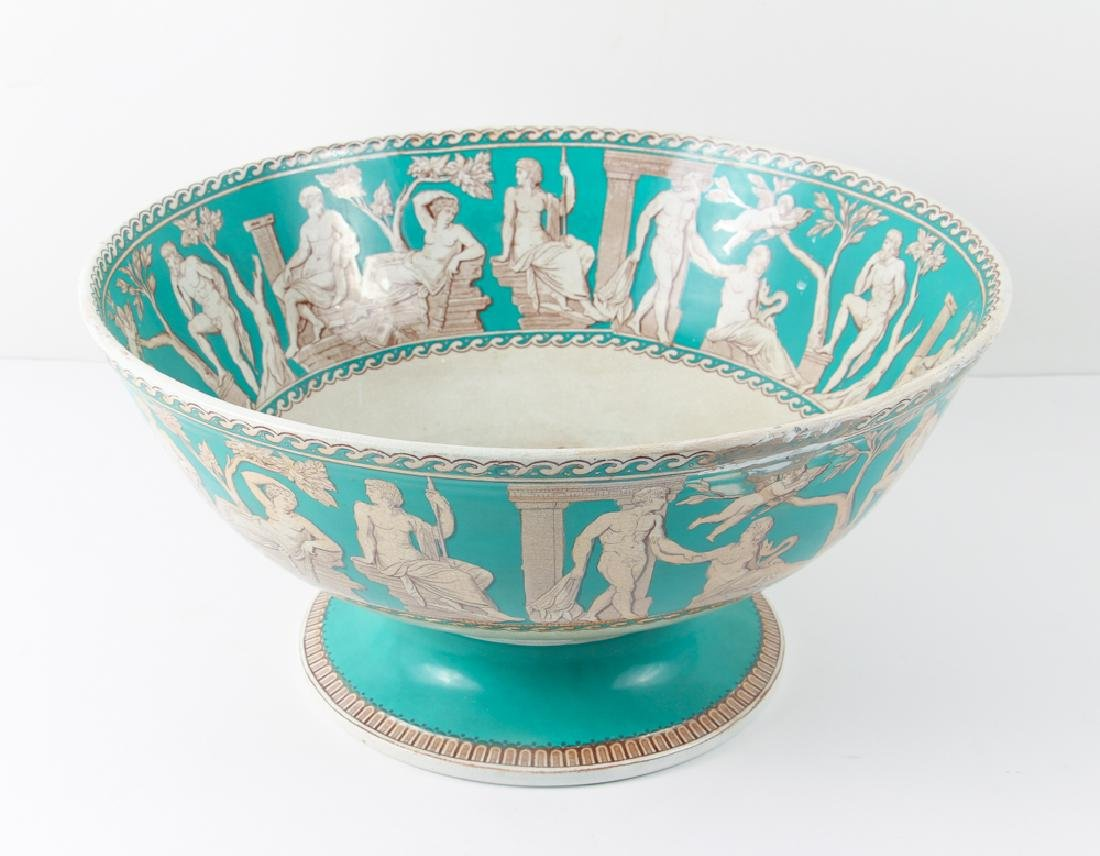 "Furnivals Pottery ""Portland"" Pattern Punch Bowl"