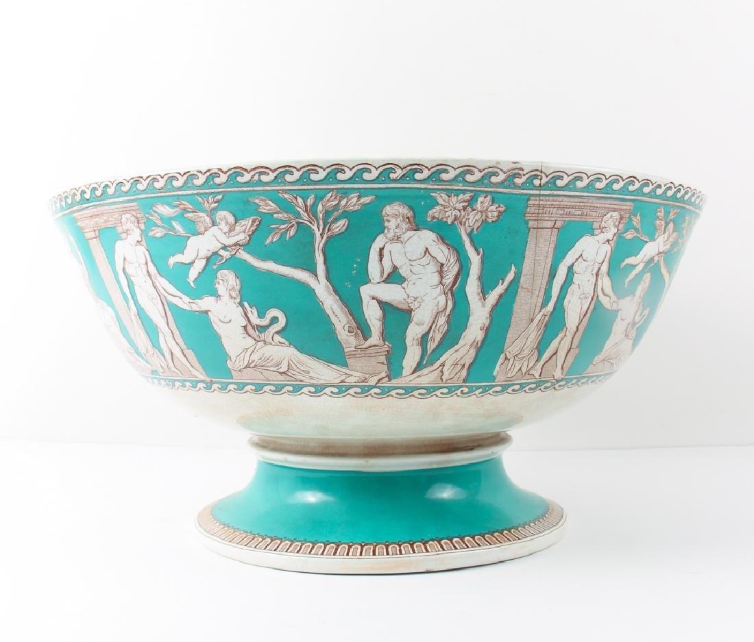 "Furnivals Pottery ""Portland"" Pattern Punch Bowl - 3"