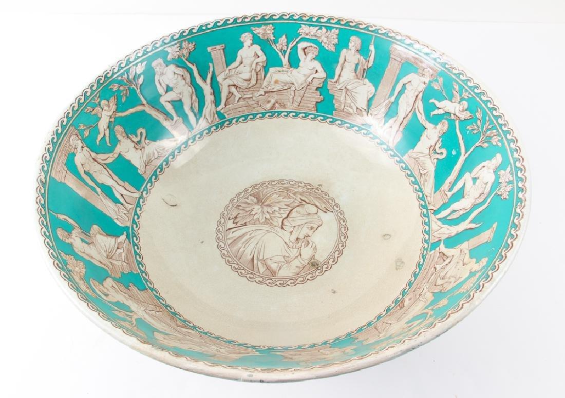 "Furnivals Pottery ""Portland"" Pattern Punch Bowl - 5"