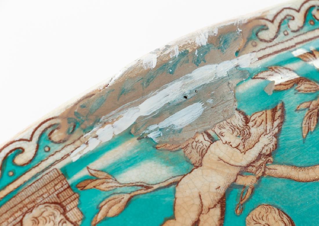 "Furnivals Pottery ""Portland"" Pattern Punch Bowl - 8"