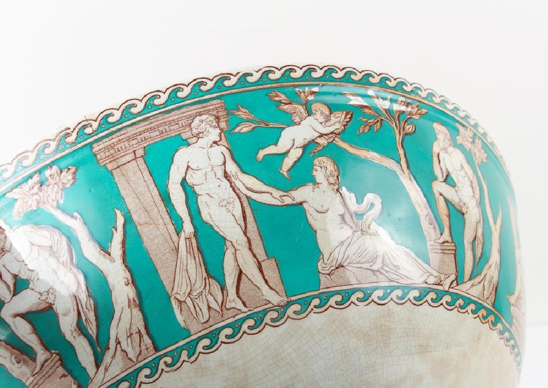 "Furnivals Pottery ""Portland"" Pattern Punch Bowl - 9"