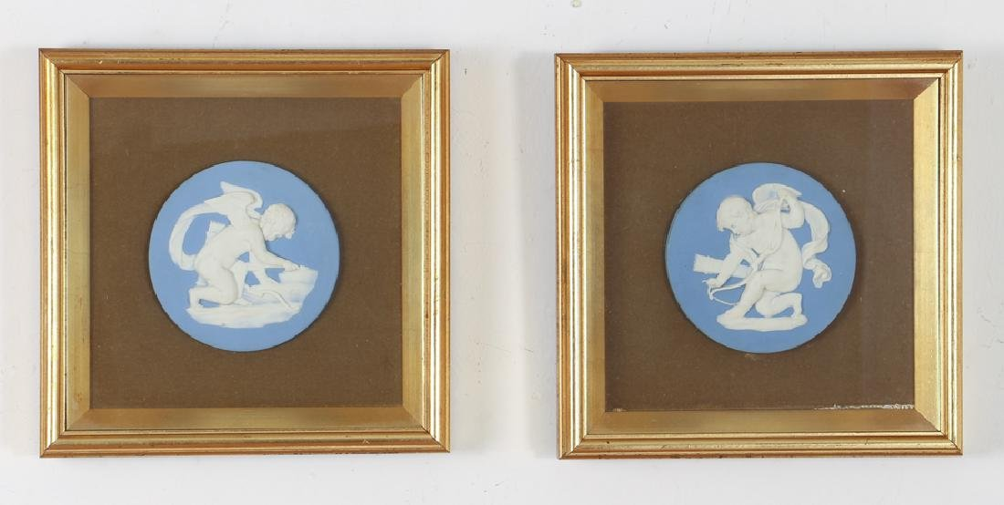 2 Wedgwood dip Jasper Cupids by William Hackwood
