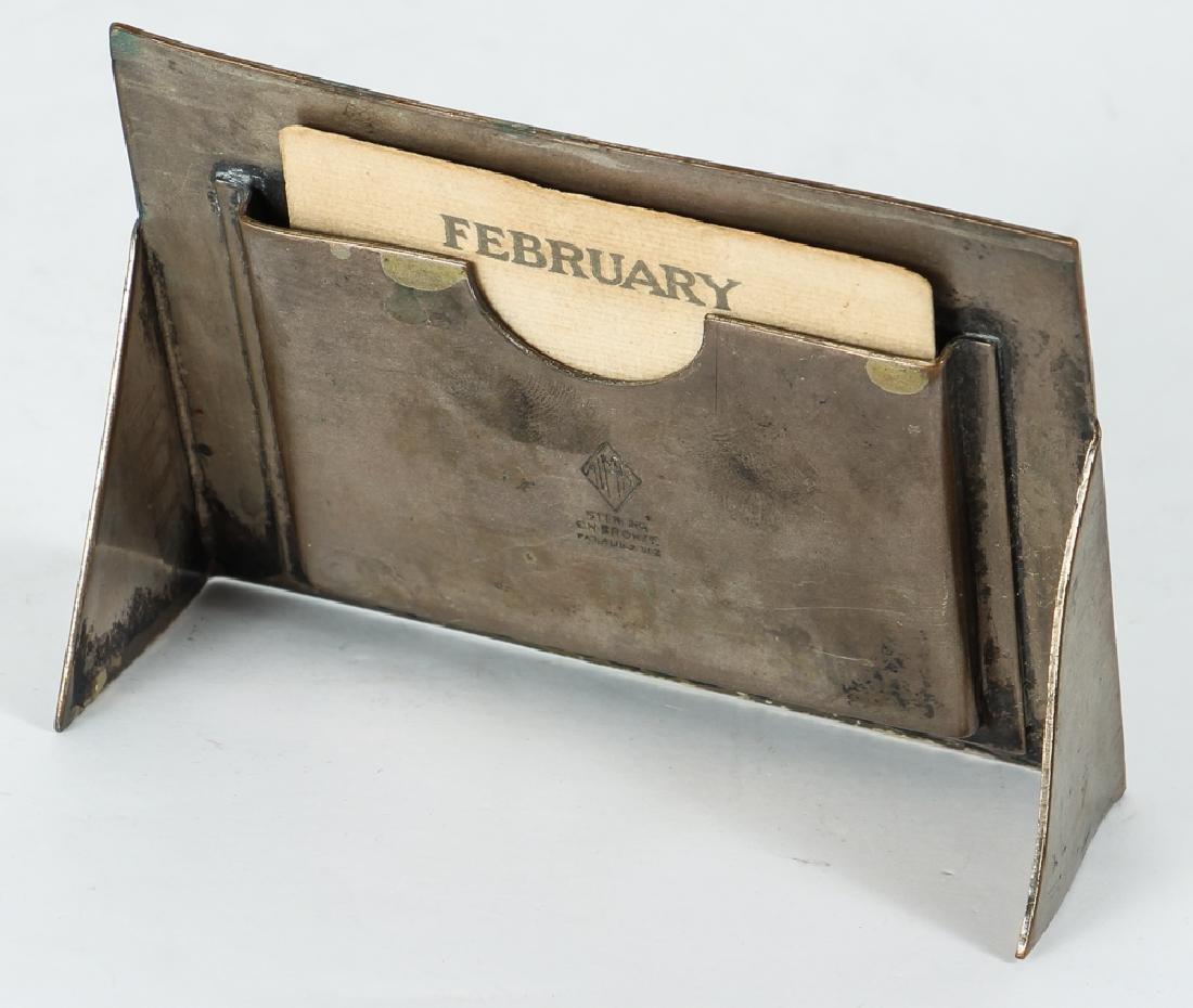 Heintz Art Metal Desk Set Possible Wedgwood Cameos - 10