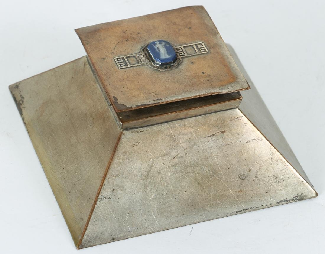 Heintz Art Metal Desk Set Possible Wedgwood Cameos - 7