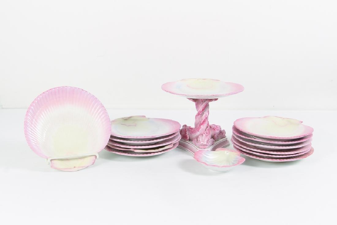 Wedgwood Pink Pearlware Dessert Set