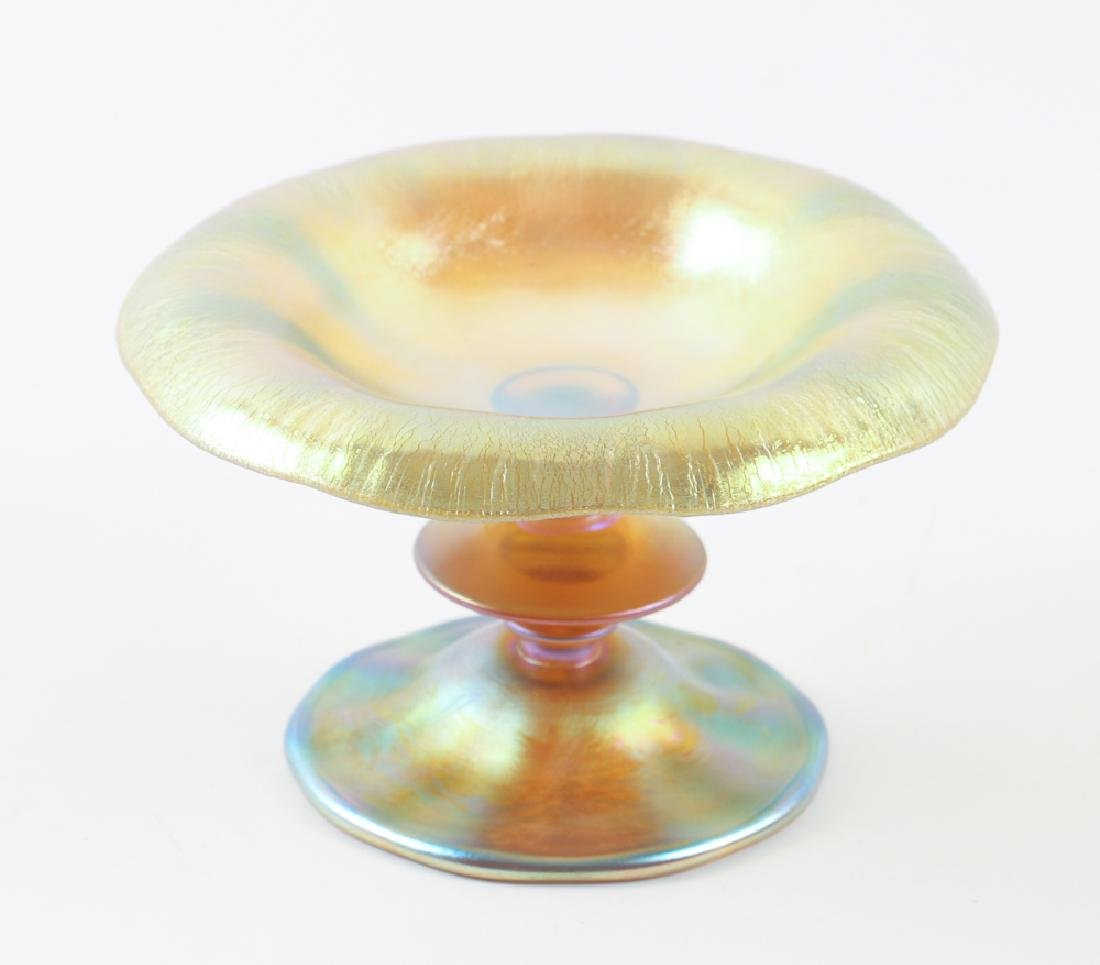 Tiffany Favrile Low Compote with Disk Pedestal - 2
