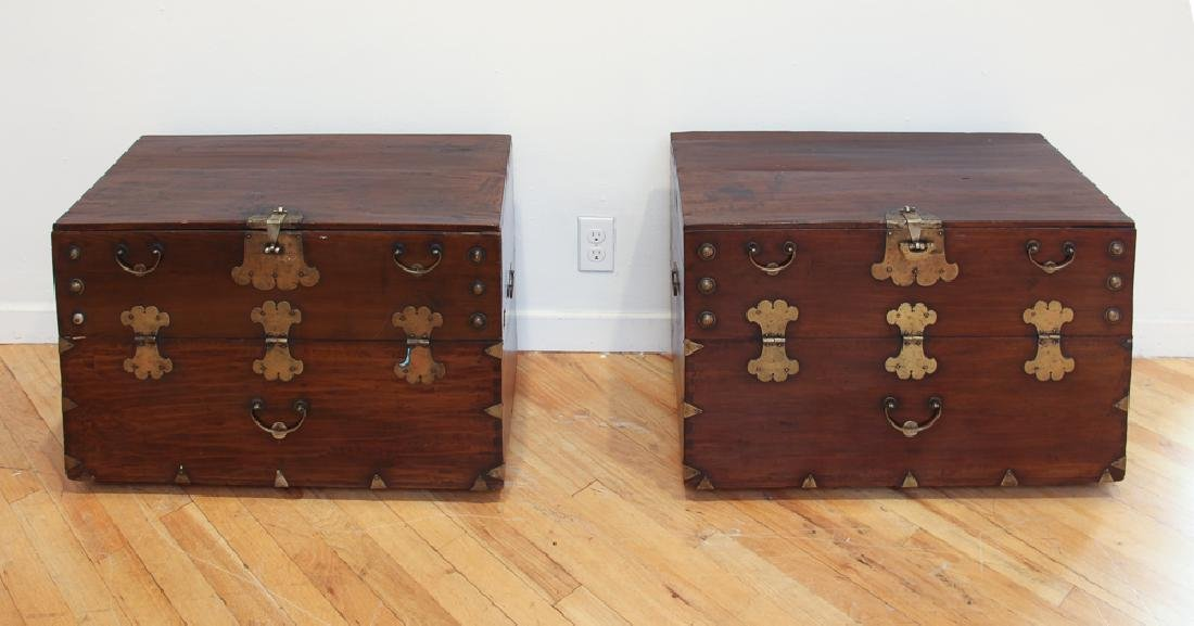 Pair of Antique Korean Storage Chests
