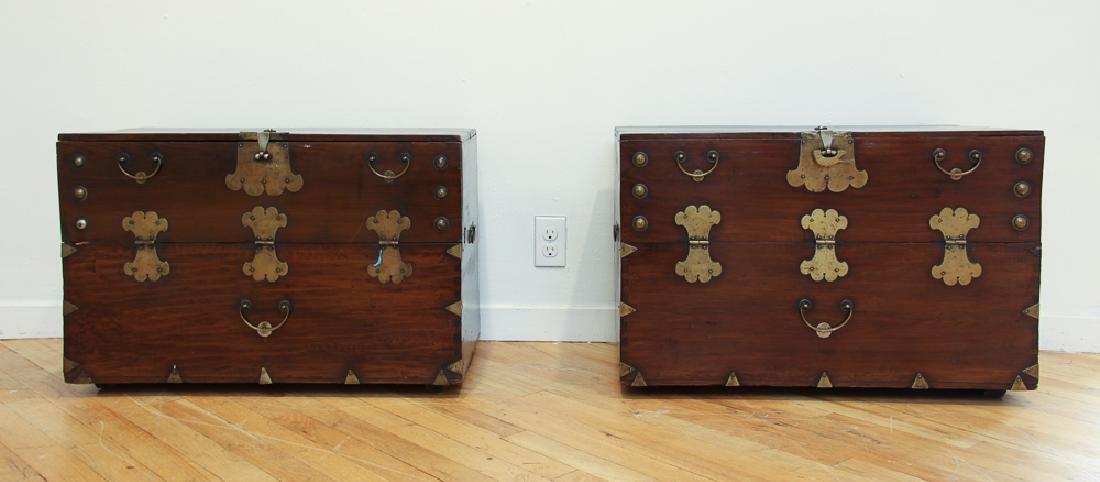Pair of Antique Korean Storage Chests - 2