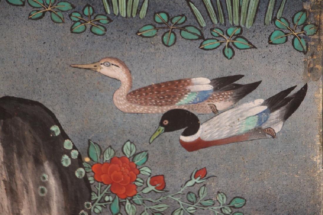 Japanese Watercolor Folding Screen Room Divider - 6