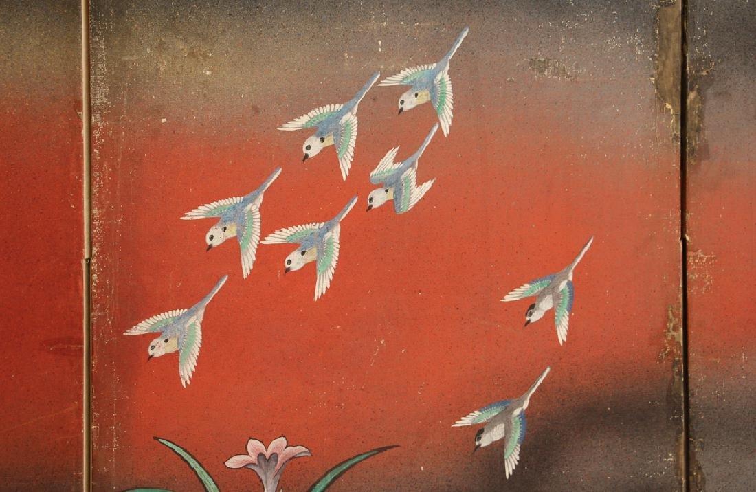 Japanese Watercolor Folding Screen Room Divider - 8