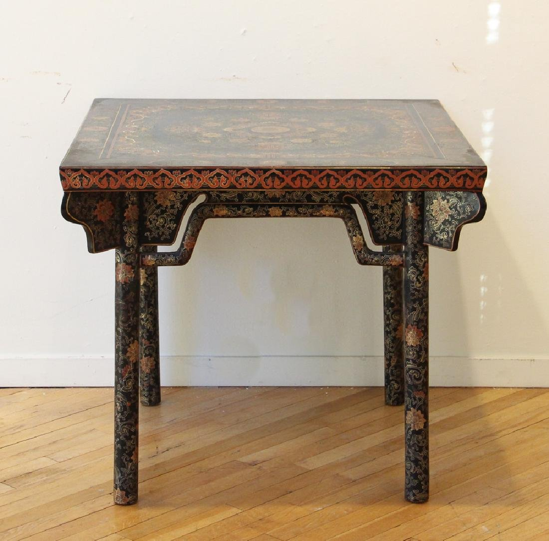 Antique Black Lacquer Chinese Table
