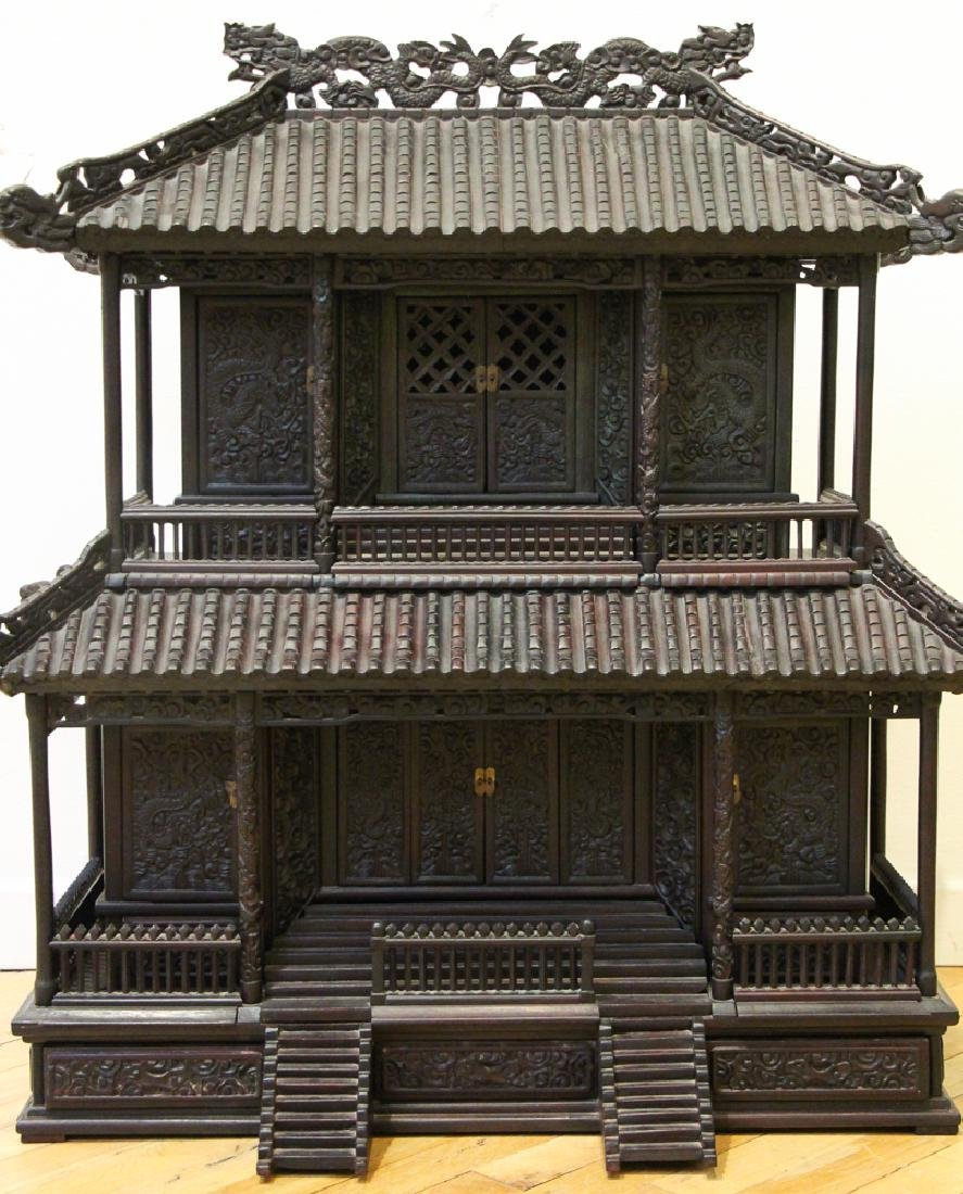 Antique Chinese Rosewood Spirit House