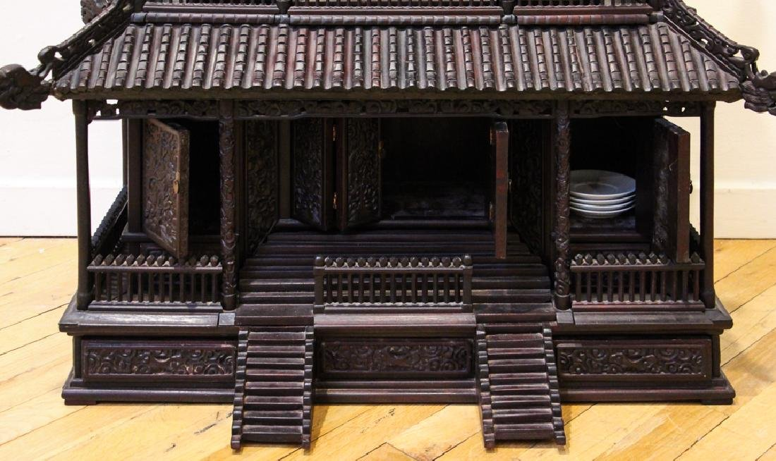 Antique Chinese Rosewood Spirit House - 2