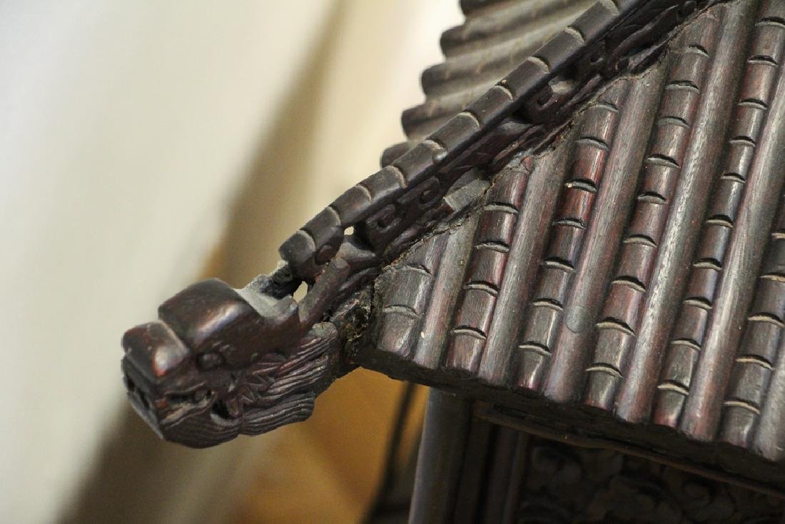 Antique Chinese Rosewood Spirit House - 4