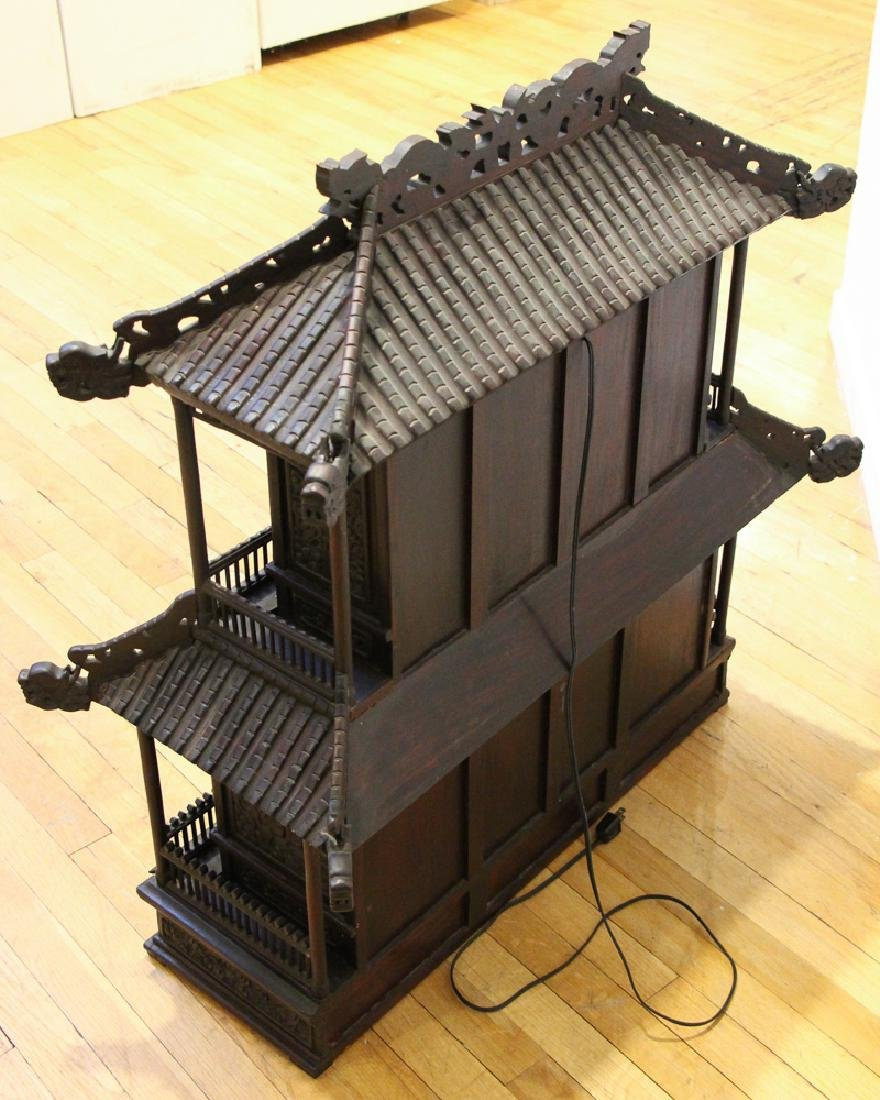 Antique Chinese Rosewood Spirit House - 6