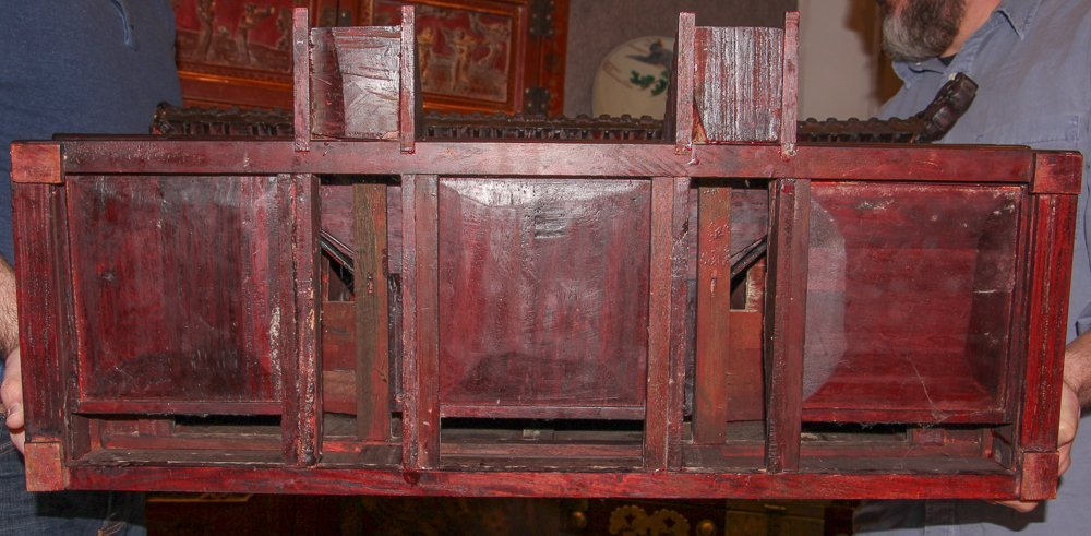 Antique Chinese Rosewood Spirit House - 7