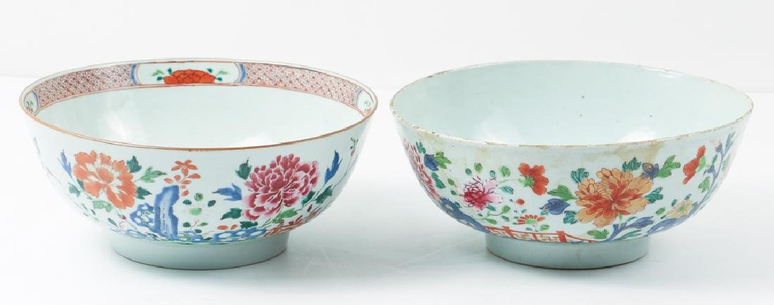 Two Antique Famille Rose Bowls