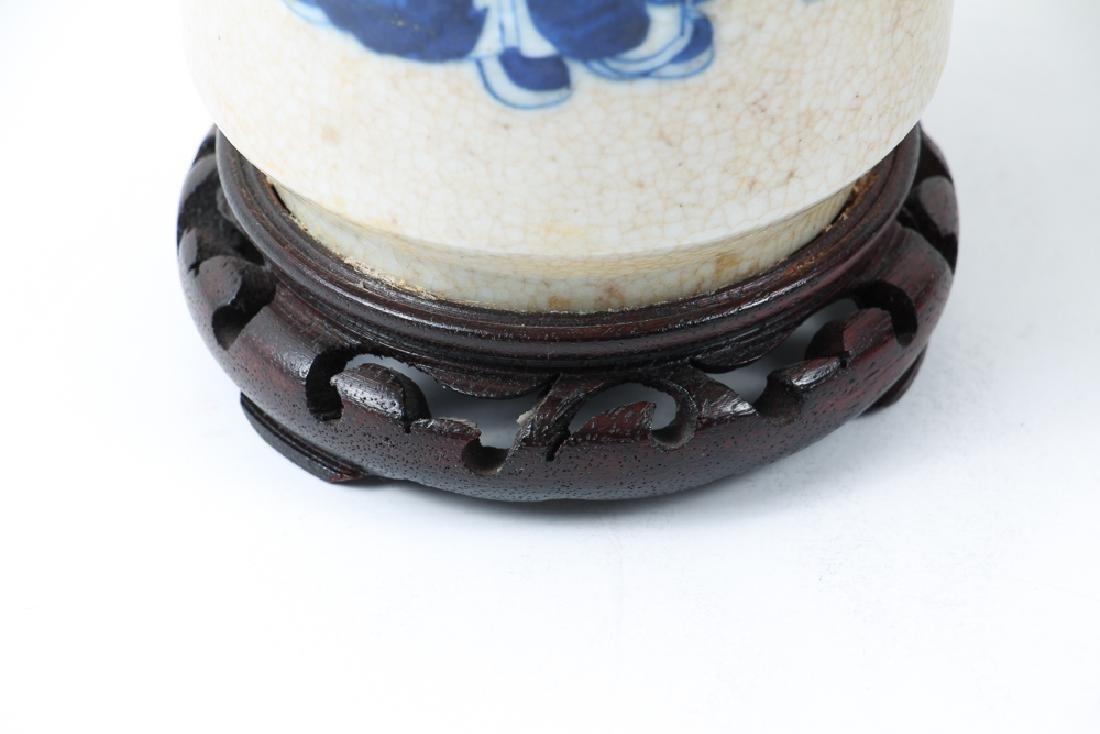 Four Pieces Chinese Crackle Glaze Ceramics - 19
