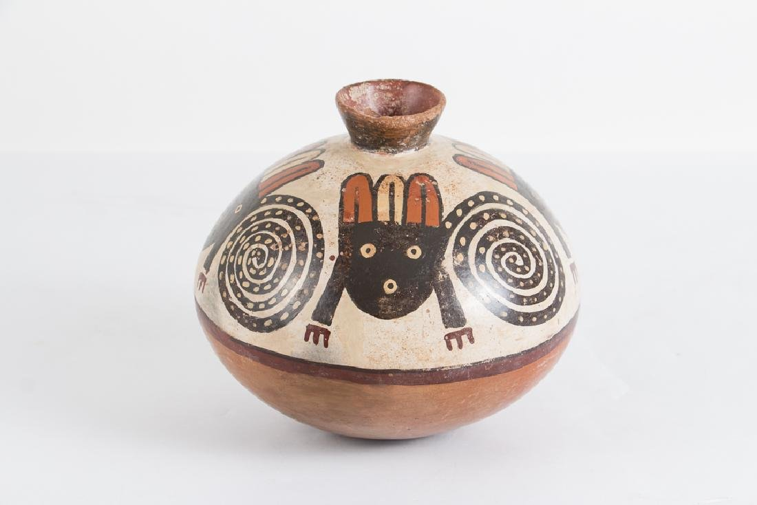 Native American Pottery Olla with Zoomorphic Creature