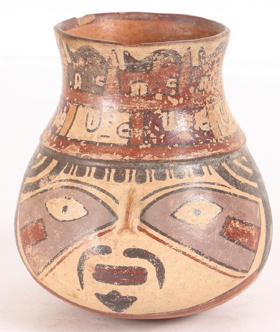 Nazca Pottery Face Kero