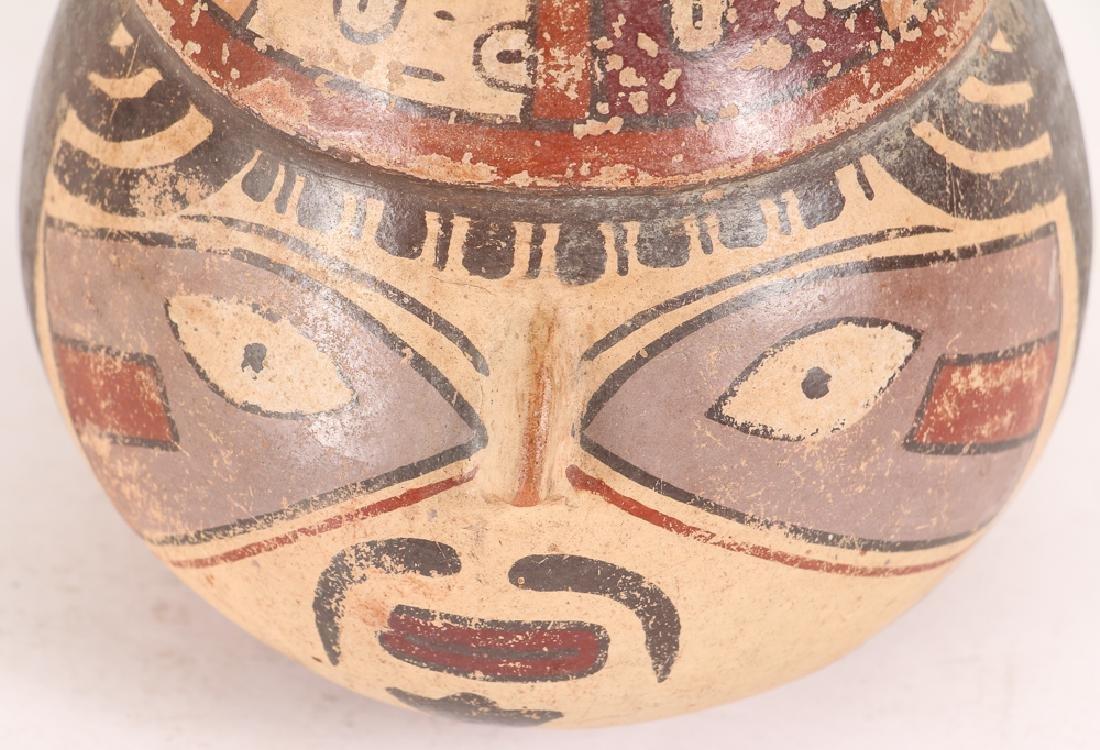 Nazca Pottery Face Kero - 5