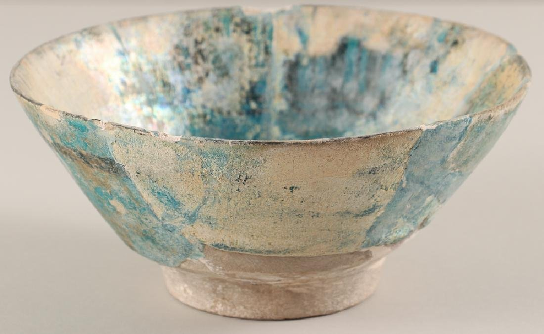 SULTANABAD ISLAMIC Turquoise POTTERY BOWL - 2