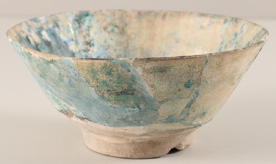 SULTANABAD ISLAMIC Turquoise POTTERY BOWL - 3